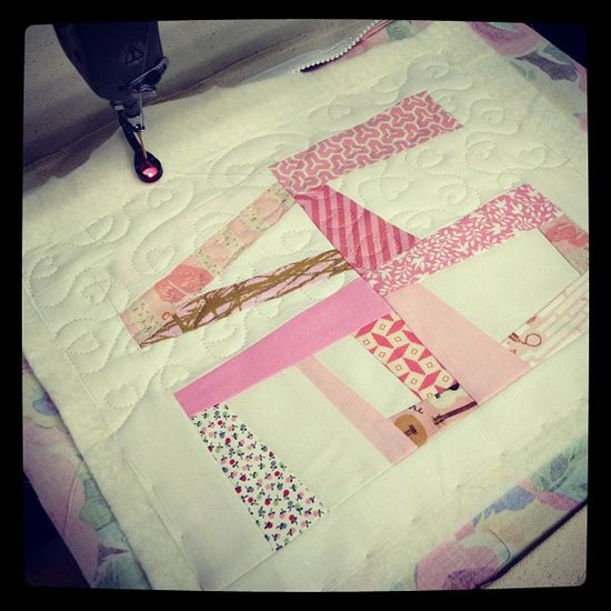 Love this!  I would do it on the back of a quilt.