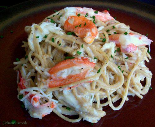 Crab Alfredo Pasta