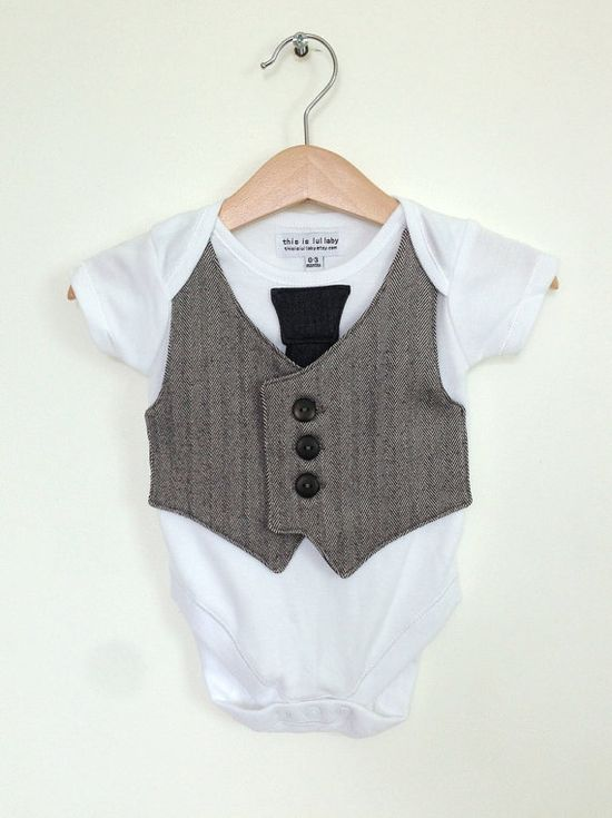 Baby boy clothes 0 to 3 months, newborn boy vest and tie, baby photo prop, upcycled baby clothing, baby suit, Etsy UK on Etsy, $23.44