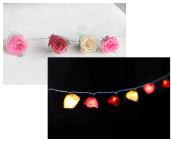 Handmade Rose String Lights