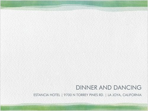 Watercolor Love Reception Card
