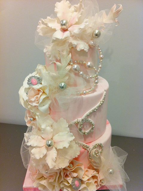ballet/couture/pink inspired cake by schmish, via Flickr