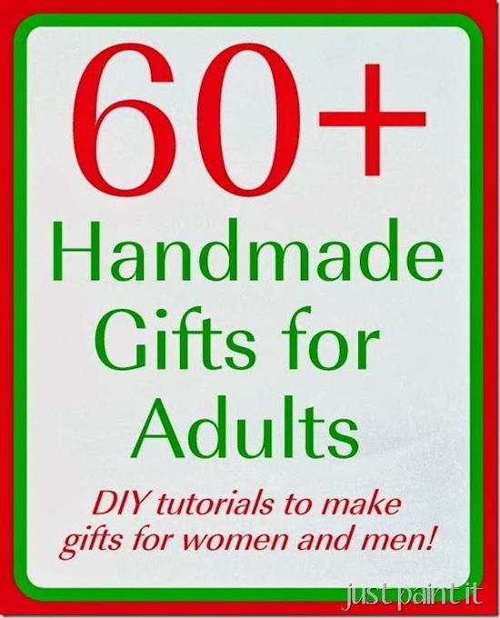 Give Handmade this year! There are over 60 handmade gift ideas here for everyone on your list!