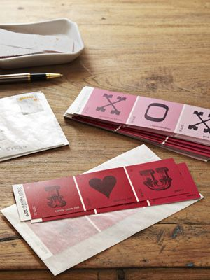 #Valentine Idea: Paint Chip Cards