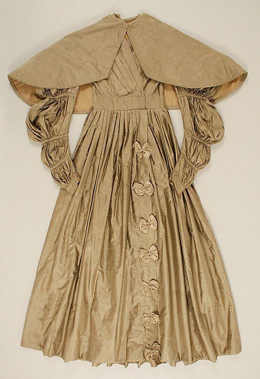 Dress  Date: ca. 1835 Culture: American Medium: silk