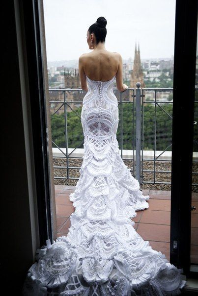 beautiful wedding gown...