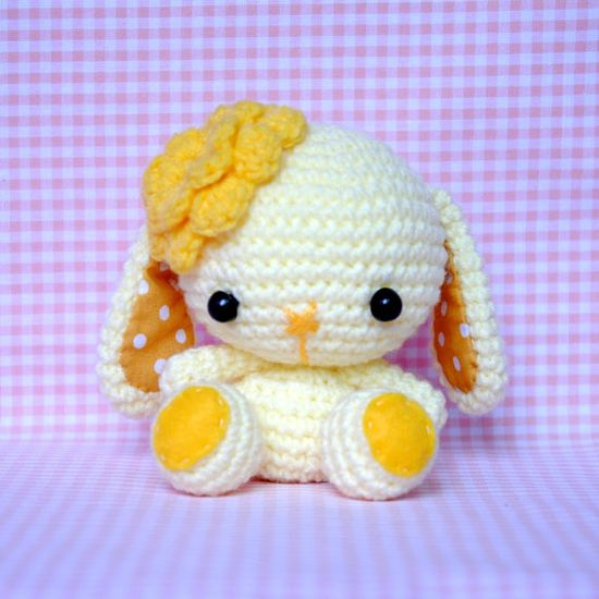 Crocheted Amigurumi Bit Bit Doll  Made to Order by OneLoveCottage, $25.00
