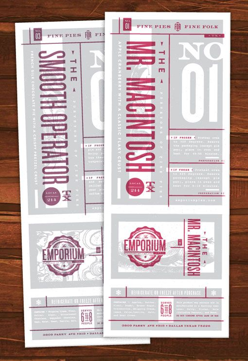 « Type Love176CODO Design: Bird on aWire Branding »  Foundry Collective: Emporium Pies Branding