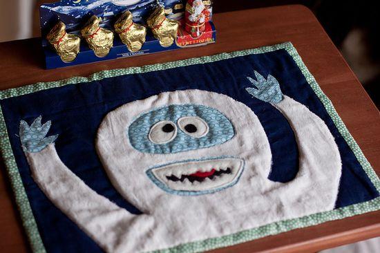 abominable snowman mug rug... -- for the Outstanding Mr. O
