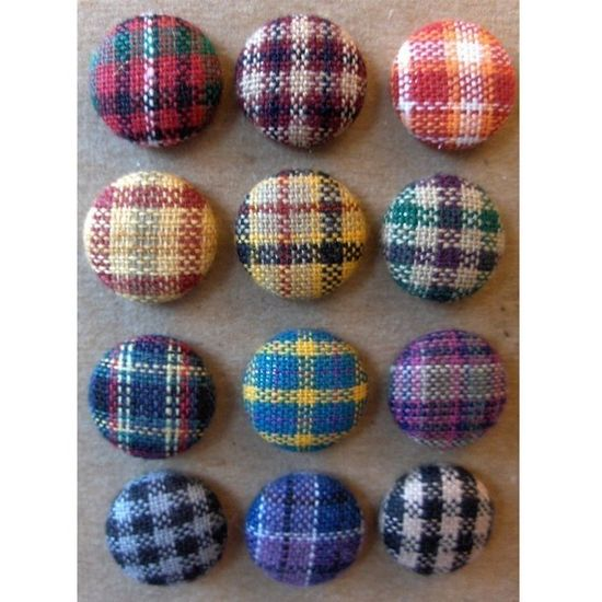 Fun mismatched plaid buttons.