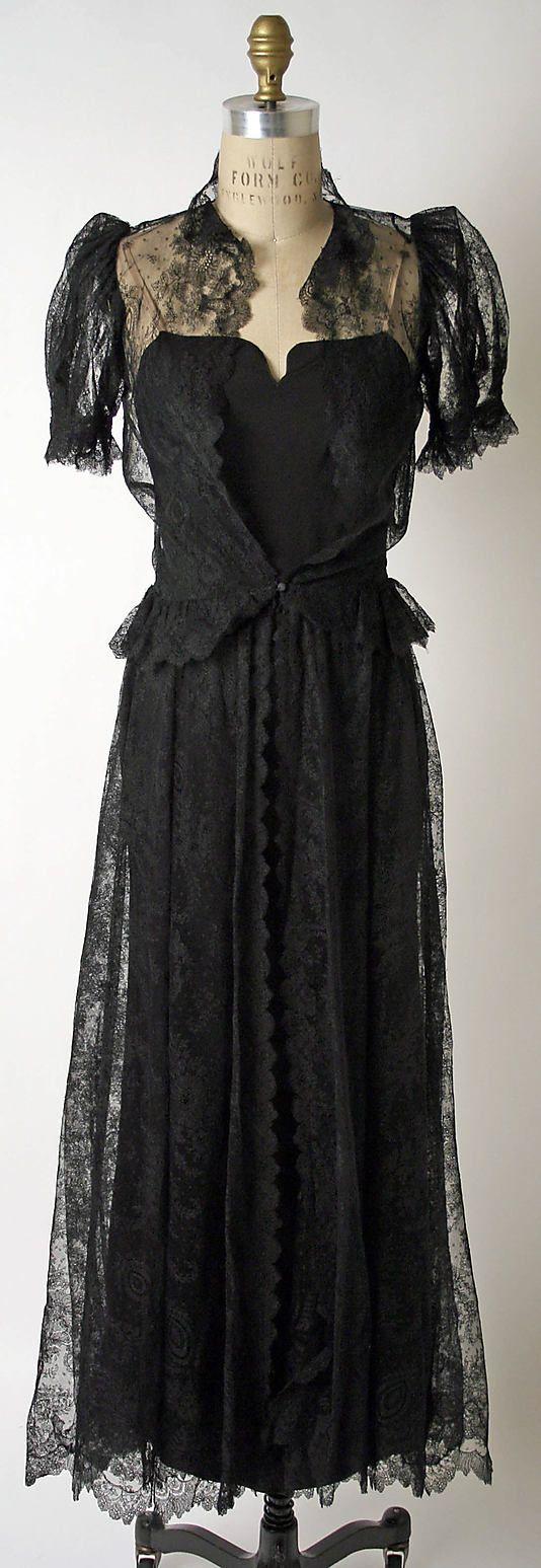 Dress, Dinner  late 1930's