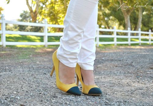 pointed cap-toe flats for fall
