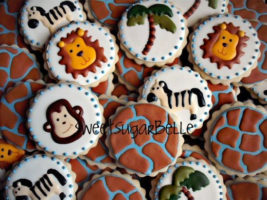 Love these animal cookies for a little kiddos birthday. Too cute!