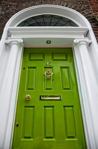 Green Door! You always see red but never green!