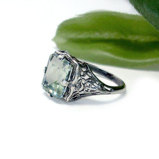 green amethyst filigree Gothic Glitter on etsy