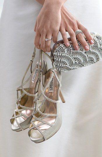 Seascape Goddess: Badgley Mischka 'Bessie' sandal at Nordstrom