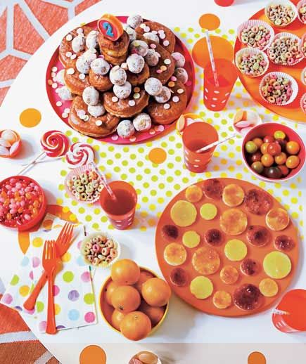 Kids' birthday Slumber party ideas Donut plate & cereal cups