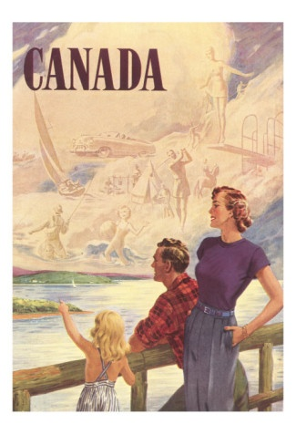 Vintage Travel Poster - Canada