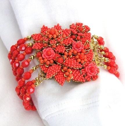 floral vintage bracelet