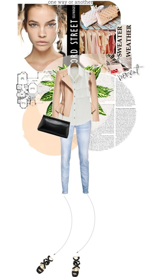 """nude outfit!"" by lola-lapin ❤ liked on Polyvore"
