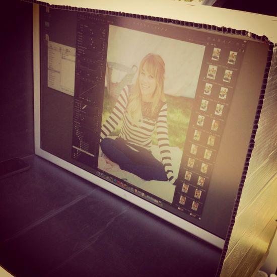 Reviewing shots at an #LCLaurenConrad photo shoot. #Kohls