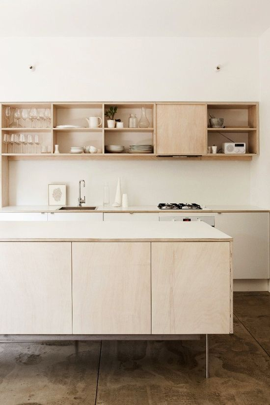 natural wood modern kitchen