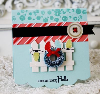 Deck the Halls card by Melissa Phillips for Papertrey Ink (September 2011).