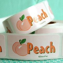 Peach Bakery Labels