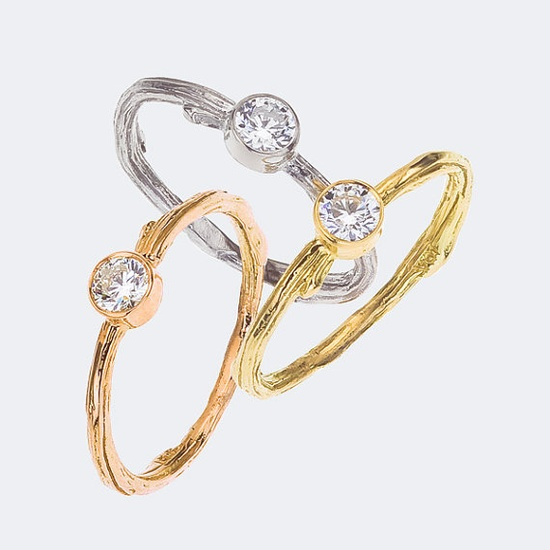 Bezel Ring    Diamond Engagement or Not   Feminine and by bmjnyc
