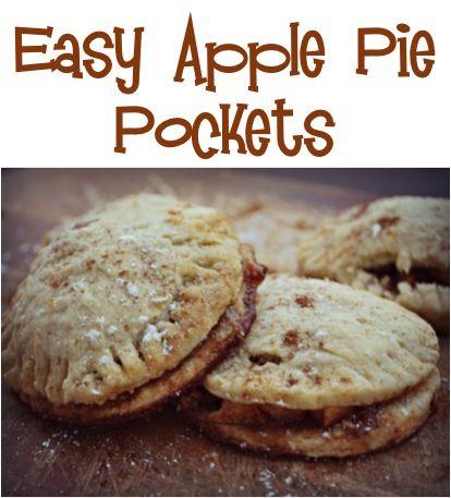 Easy Apple Pie Pockets Recipe! {YUM!} #apples #pies #recipes