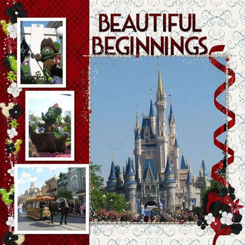 Beautiful Beginnings, Disney scrapbook layout