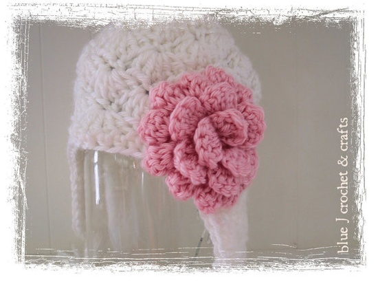 or maybe pink and white newborn hat?