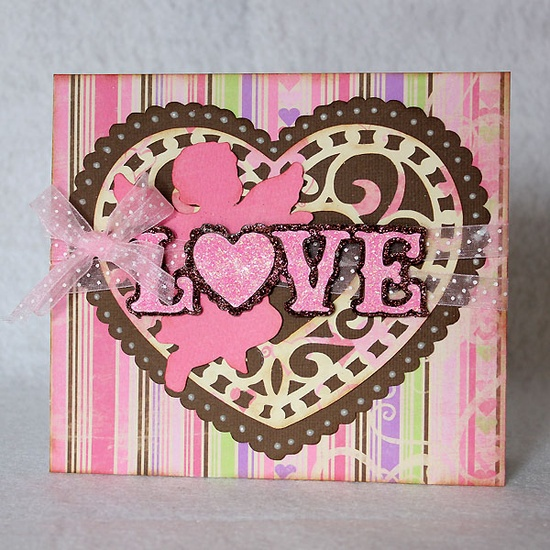 """Love"" card made with #Cricut!"