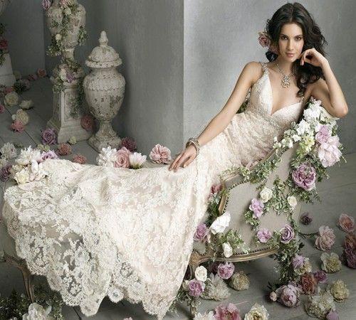 Gorgeous Wedding Dress: Vintage Lace Wedding Dress
