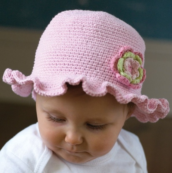 Cute Baby Hat with Flower.
