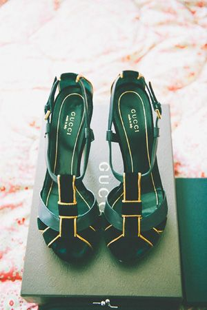 green gucci shoes
