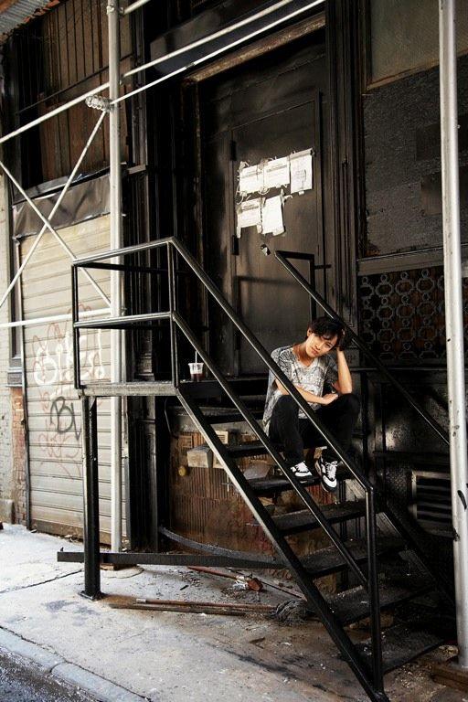 Alexander Wang outside his SoHo studio.