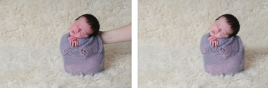 potato sack pose BEFORE & AFTER