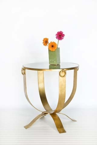 Large Milano Gold Leaf Table pinned with #Bazaart - www.bazaart.me
