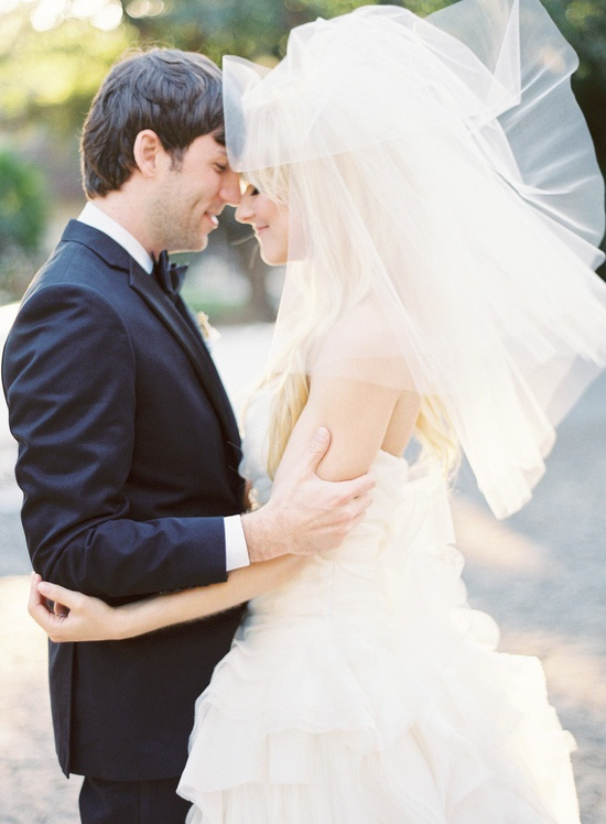 This is the perfect veil for this Vera Wang gown