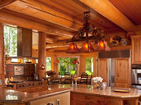 Huge Luxury Log Homes in the Tetons