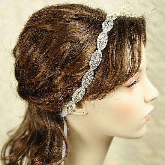 CHELSEA  Vintage Wedding Headband Bridal by GlamorousBijoux, $55.00