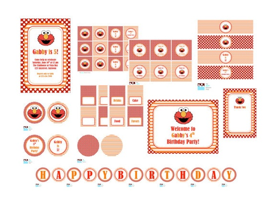 Elmo Party Printables