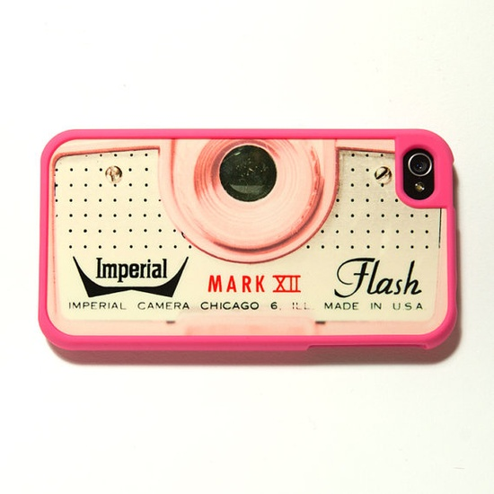 Pink iPhone case - stuff like this makes me wish I had an iphone.
