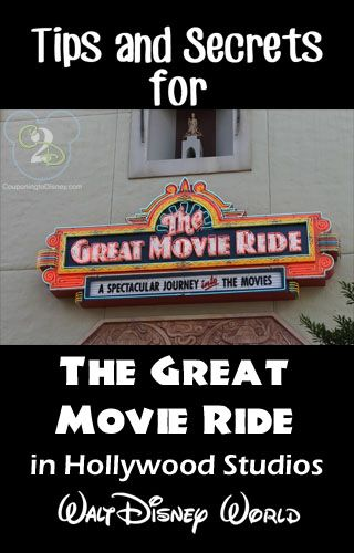Tips and Secrets for The Great Movie Ride in Hollywood Studios. Pin if you are going to Disney World.