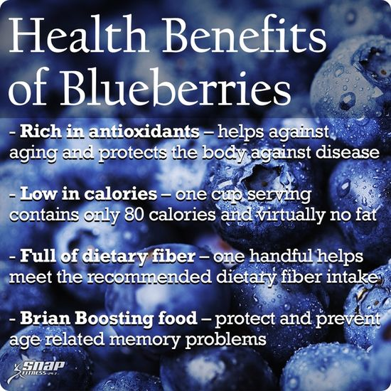 The Health Benefits of #Blueberries