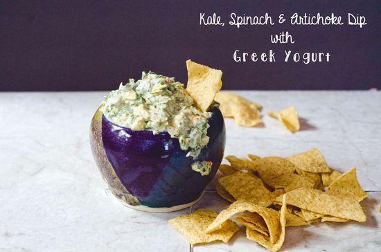 Kale, Spinach & Artichoke Dip With Greek Yogurt