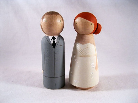 I love these simple wedding toppers.