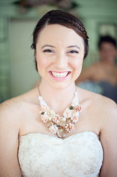 A Statement Necklace for a Happy Bride!