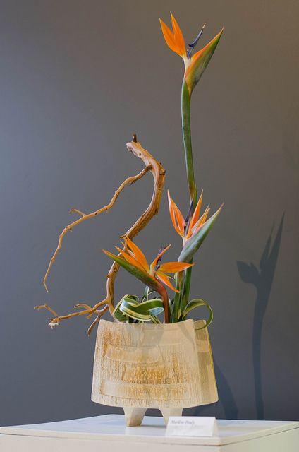 Ikebana paradise flower